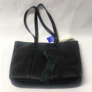 NWT Carmen Lucky Brand Leather Handbag Black